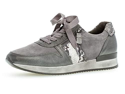 Gabor Damen Sneaker 33.420, Frauen Low-Top Sneaker,Halbschuh,Schnürschuh,Strassenschuh,Business,Freizeit,Dark-Grey Kombi,37 EU / 4 UK