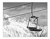 Skilift-Winter-Wandkunst-Dekor-Drucke – Einzelnes (27,9 x
