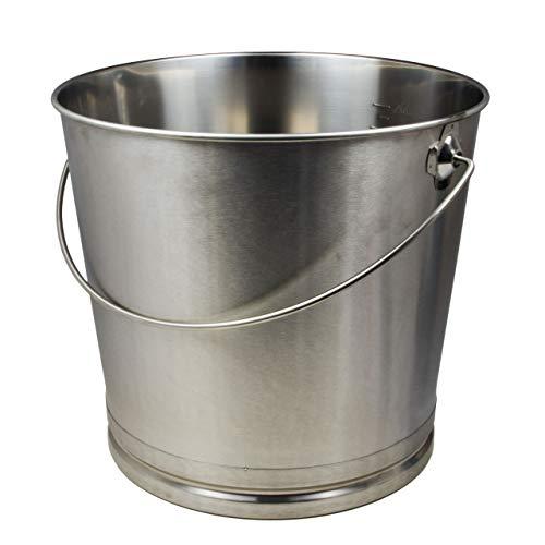 Eimer Kücheneimer Futtereimer Milcheimer Sektkühler Eis-Eimer Edelstahl 20 Liter mit Skala