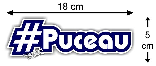 Sticker Hashtag #Puceau - Autocollant Humour Cadeau