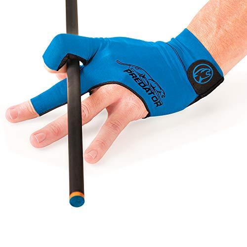 Predator Second Skin Billardhandschuh, Blau, passend für Linke Brücke, Large/X-Large