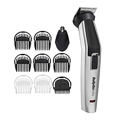 BaByliss MEN 10 in 1 Titanium Face and Body Multi Grooming Kit with Nose Trimmer Head by The Conair Group