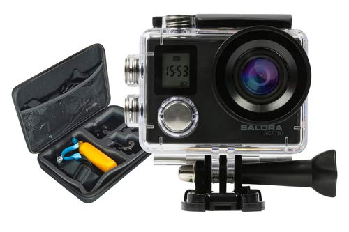 Salora ACP750 - Action Camera - Ultra HD - 4K - Wifi - Dubbel display - Opbergcase - Afstandsbediening - Accessoires