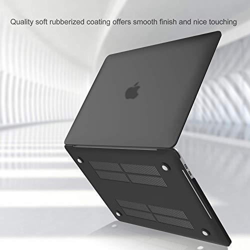 Funda A1989 A1706 A1708 de ProCase para MacBook Pro 13, tapa rígida de carcasa y cubierta de piel para teclado para MacBook Pro de 13 pulgadas con/sin barra táctil y Touch ID negro