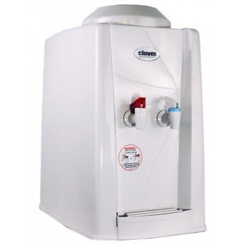 Clover D9A Hot & Cold Countertop Bottleless Water Dispenser with Conversion Kit, White