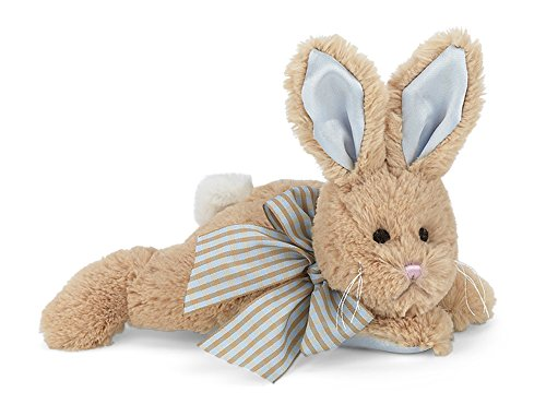 Best Deals! Bearington Baby Bunny Tail Plush Stuffed Animal Bunny with Rattle, 8 inches