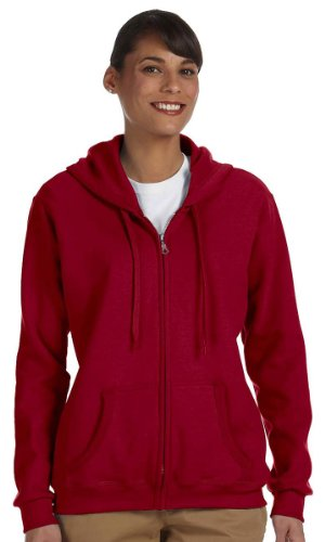 Gildan Women's Heavy Blend Full-Zip Hooded Sweatshirt, XXX-Large, Cardinal Red
