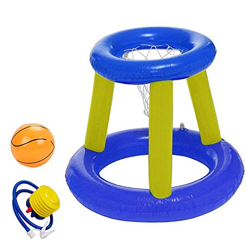 Inflatable Pool Floating Basketball Hoop, Shootball Basketball Swimming Pool Game Toy - Inflatable Water Basketball Stand Best Water Sports Fun Summertime Water - Game for Children and Adult