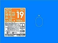 ポリ袋 青色半透明 規格袋 19号 食品検査適合 400x550mm 1500枚 JN19