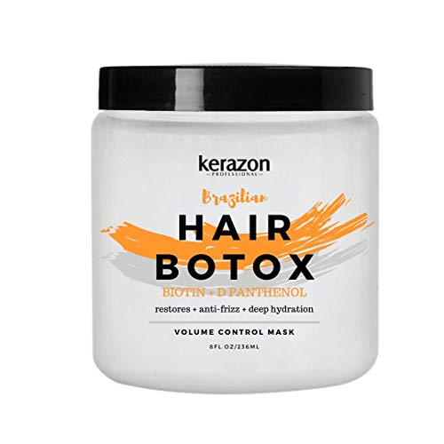 Kerazon Hair Botox Treatment provides smoothing, deep hydration, nutrition, shine, softness, volume control and hair smoothness with 0% of Formaldehyde! For all types of hair.