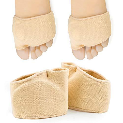 Fußpolster, Gel-Vorfußpolster, Gel-Mittelfußpolster, Fußpolster, Fußpolster, Silikon-Fußpolster für Frauen und Männer, Erweiterbarkeit lindert Fußschmerzen,supports metatarsalgia, morton neuralgia.