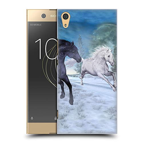 Head Hülle Designs Offizielle Simone Gatterwe Freiheit In Dem Schnee Pferde Harte Rueckseiten Huelle kompatibel mit Sony Xperia XA1 Ultra/Dual