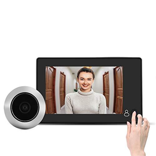 """Lazmin Mirilla de Video LCD en Color TFT de 4.3\"""", 145 ° Gran Angular Smart HD Visor de Puerta Cámara Soporte Foto"""