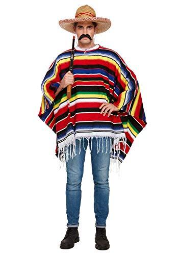 Mexikanischer Deluxe-Poncho für Erwachsene, für Halloween, Party, Kostüm, Zubehör Gr. Einheitsgröße, Deluxe Poncho