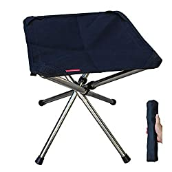 ✅【Lightweight & Compact Folding Design 】This telescopic folding chair can folds up to compact size as 2 * 2 *12.2 inches, while seats as 12*12*13.7 inches. Sits more comfortable than common triangle tripod seat and feel comfy sitting for couples of h...