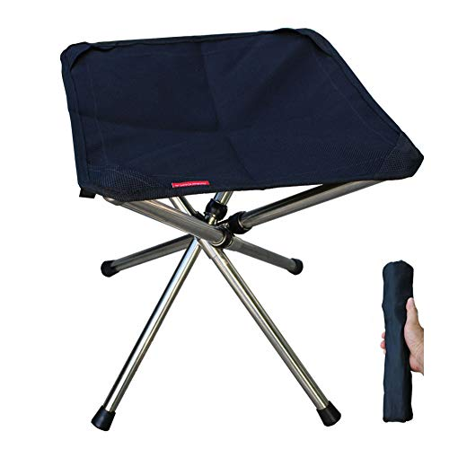 Camping Stool, Camping Chair, Foldable Fishing Tripod Chair, Garden Foot Rest...