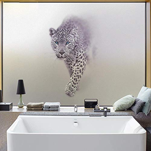 Top Business Frosted Window Film Privacy Sticker No Glue Window Sticker Stained Glass Ondoorzichtig 3D Leopard Elk Horse Raamfolie, Horse 60x90cm, China