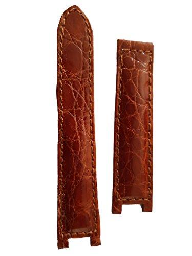 Cinturino spezzone vero coccodrillo per Cartier Pasha (Marrone)