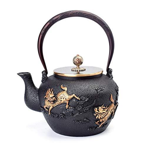 Teteras infusor té Jarra tea pots Teteras Tetera de hierro fundido unicornio Diseño Inicio té flojo hervidor de agua regalos hechos a mano retro de la tetera de mano forjó bañados en oro