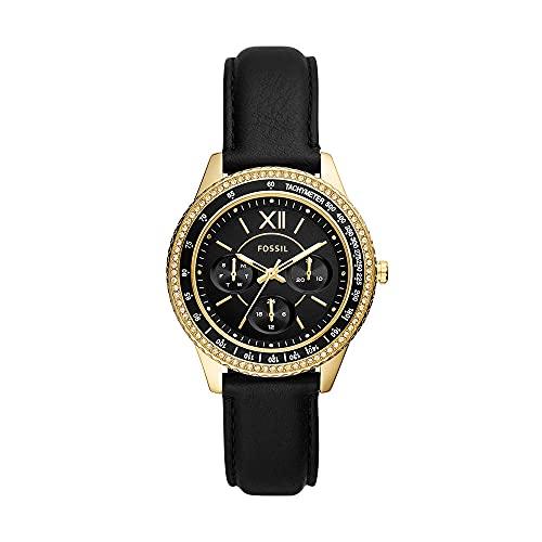 Fossil - Reloj Stella con Tres manecillas para Mujer, Acero Inoxidable en Tono Dorado Rosa, ES5136