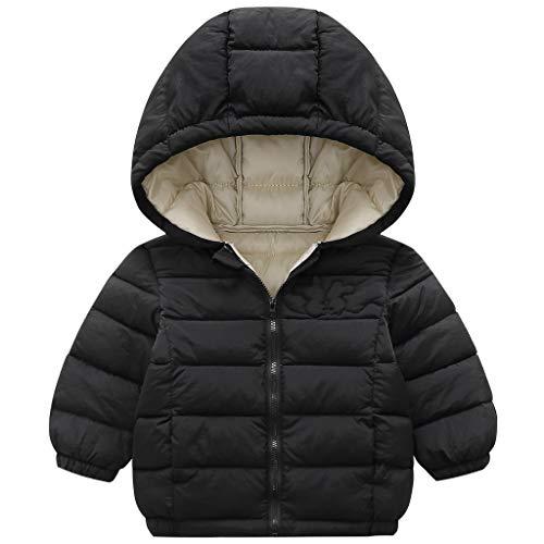 Minizone Bambino Giacche con Cappuccio Inverno Cappotto Leggero Giubbotti con Cerniera 12-18 Mesi