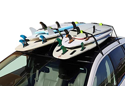 surfboard racks for trucks Block Surf - Wrap Rax Single - Surfboard Soft Roof Racks with Corrosion Resistant Buckles, Universal Fit for Cars, Trucks and SUVs - Carries Long Boards, Short Boards, and Soft Tops