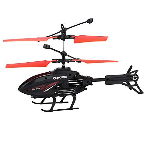 CMOM RC Elicottero radiocomandato Elicottero Mini Infraed Aeroplano, Luce lampeggiante, Giocattolo hobby, Mini elicottero, Aeroplano, giocattolo, regalo per bambini (rosso)