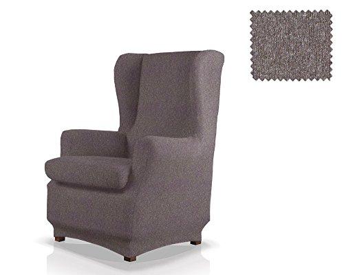 JM Textil Funda de sillón orejero elástica Haber Tamaño 1 Plaza (Estándar), Color 06