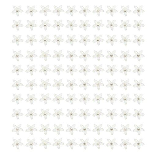 Milopon Bijoux Accessoires Forme de Étoile Délicat Décorations pour Fabrication de Bijoux DIY Collier Cas de Téléphone 12x12mm 100pcs (Blanc)