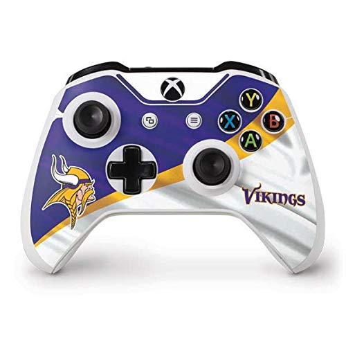 Skinit Decal Gaming Skin for Xbox One S Controller - Officially Licensed NFL Minnesota Vikings Design