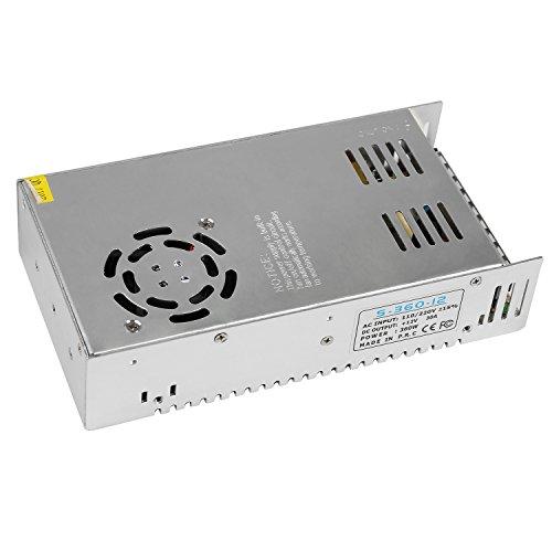 LEADSTAR 12V 30A 360W Trafo Transformator Adapter Netzteil Schaltnetzteil Stromversorgung für LED Strip 3D Drucker und weitere Geräte mit DC 12V