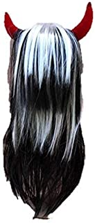 Matissa Devil Horns and Long Wig Fancy Dress Cosplay Wigs POP Party Costume