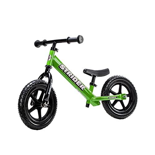 Strider #12 Classic No-Pedal Balance Bike, Green