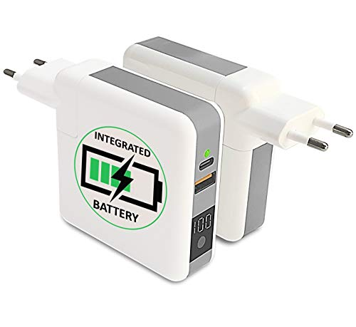 Sunslice Hadron - Chargeur hybride 3 en 1 : classique, batterie externe et chargeur sans fil