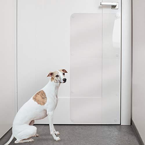 PROTECTO Protector Anti-Arañazos de Puertas: Protector Anti-Garras de Perros y Gatos – 90x40 cm Protección Resistente Anti-Arañazos de los Muebles – Grande, Duradera y Transparente