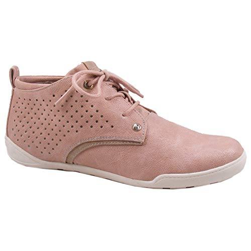 MUSTANG 1314-501 Damen High Top Sneaker Schnürschuhe, Größe:39 EU, Farbe:Rosa