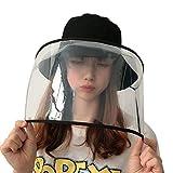 サンバイザー レディース 防護帽 漁師帽 Hodarey 花粉 飛沫 ほこり 黄砂粉塵対策 レインハット防塵 キャップ ファイスカバー 釣り帽子 日よけ UVカット対策 フェイスカバー取り外し可能 帽子 軽量 紫外線対策 日焼け防止 おしゃれ 保護帽子