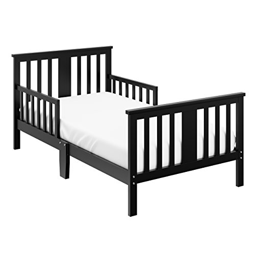 Storkcraft Mission Ridge Toddler Bed Black, Fits Standard-Size Toddler Mattress (Not Included), Guardrail on Both Sides, Meets or Exceeds All Federal Safety Standards, Pine & Composite Construction