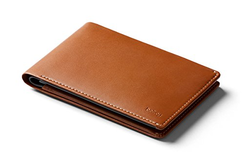 Bellroy Travel Wallet (Slim Leather Passport Wallet, RFID Blocking, Organizes Travel Documents, Cash & Tickets, Holds 4-10 Cards, Includes Micro Pen) - Caramel - RFID