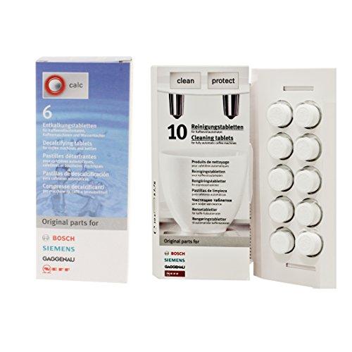Bosch Reinigungsset: 10 Reinigungstabletten + 6 Entkalkungstabletten