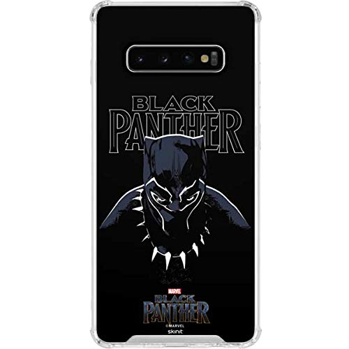 Skinit Clear Phone Case for Galaxy S10 Plus - Officially Licensed Marvel/Disney Black Panther Design