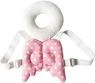 وسادة حماية للرأس للأطفال الرضع وسادة مسند للرأس ورقبة أطفال وأجنحة لطيفة ومضادة للسقوط وحقيبة ظهر مبطنة مم