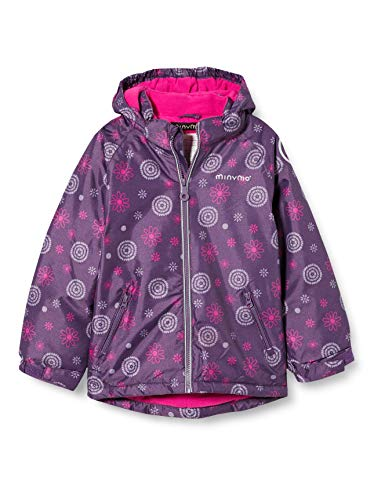MINYMO Girls Snow Oxford Shape Jacket, Loganberry, 128