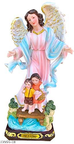 Angel De La Guarda 12' Inch Statue Guardian Angel Religious Figure