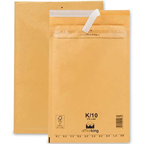 OfficeKing Luftpolstertaschen reißfest 50 Stk Braun K/10 | 370 x 480mm DIN A3+ C3