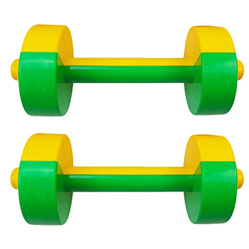 TOYANDONA 1 Paar Plastik Kinder Hanteln Spielzeug Kinder Fitness Trainingsgeräte Sportspielzeug für Kinder Kinder Studenten (Grün)