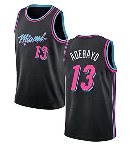 YZY Camisetas De Baloncesto para Hombre, NBA Miami Heat # 13 Bam Adebayo Unisex Bordado Malla Baloncesto Swingman Chaleco Mechas El Sudor,XL(180~185CM/85~95KG)