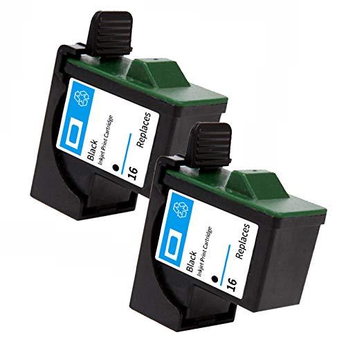 Cartucho de tinta compatible Lexmark 16 26, color negro y color para Lexmark 16, Lexmark 26, para usar con impresoras Lexmark Z13, Z23, Z25, Z33, Z35, Z515, Z611, Z615, Z645, negro y negro.