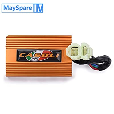 MaySpare 6 Pins DC CDI Box Variable Timing Performance For GY6 4-Stork Engine 125cc 150cc 250cc No Rev Limit