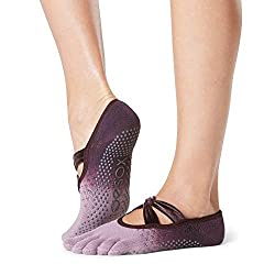 ToeSox Women's Ivy Full Toe Grip Socks